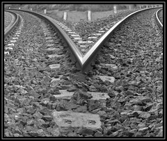 WERE DO WE GO?? (bibizu) Tags: light blackandwhite white black station photography noir rail right passion left treno nero rotaie locomotiv lokomotiv blueribbonwinner supershot passionphotography anawesomeshot aplusphoto excellentphotographerawards theunforgettablepictures betterthangood bibizu locomitiva
