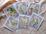 Bunnies and Bonnets Easter Gift Tags<p>Two different sets of 6 available