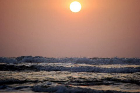 Ecuador coast sunset