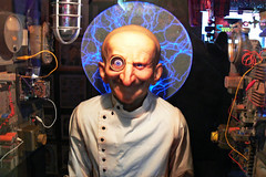 "Ask ""The Brain "" - Marvin's Marvelous Mechanical Museum (DetroitDerek Photography ( ALL RIGHTS RESERVED )) Tags: blue usa digital america franklin march eyes michigan interior detroit bald brain science panasonic novelty future inside animated genius lightning 2008 fortuneteller farmingtonhills farmington 248 attraction 313 damncool macine predict motown motorcity marvinsmarvelousmechanicalmuseum thebrain dmcfz30 anawesomeshot excapture"