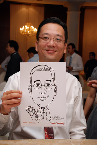 caricature live sketching Singtel Radiance Communications Avaya 6