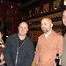 Writers Joe Salvatore and Robert Lopez and friends
