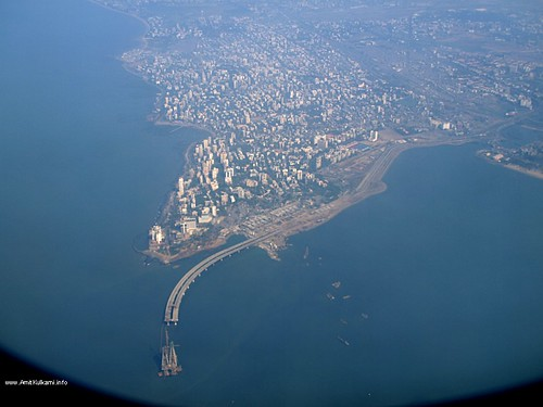 Bandra Worli Sea Link from Plane