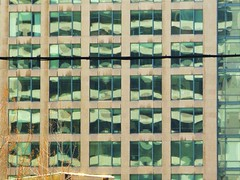 A Reflection on a Skyscraper (Lily Zhu) Tags: reflection art pattern geometry stripes buildingreflection goldenmix lizardskintexture