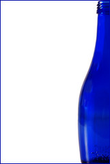 A Half Bottle (sunnyUK) Tags: blue colour bottle negativespace halfbottle 2757 activeassignmentweekly bestofweek1 bestofweek2
