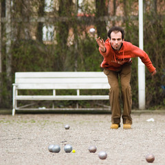 DSC_6048 (Sakuto) Tags: street red people man game sport ball play bull jupiter petanque boule pétanque aplusphoto