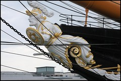 HMS Warrior - Figurehead (Chalkie_CC) Tags: sea england harbour ships hampshire portsmouth warship figurehead 1860 chalkie hmswarrior pspro eos40d onlythebestare