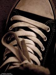 C.O.N.V.E.R.S.E (Waseef Akhtar) Tags: bw black sepia airport shoes sony shades dirt step converse riyadh saudiarabia ksa sneaks kkia mywinners sonydscs650