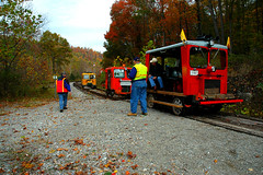 Tygart Junction WV. on 10-26-06. (extra156west) Tags: junction wv fairmont speeder a6 tygart motorcar narcoa