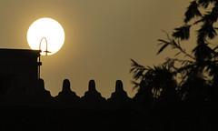 SERENDIPITY (Mark Caidic Photography) Tags: sunset sun lightbulb lamppost riyadh silloutte ksa