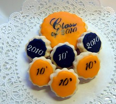 Class of 2010 Stencil Cookie (Yadkin Valley Cookies) Tags: school class2010 classbirthdaycookiepatrioticamericana graduatecookie