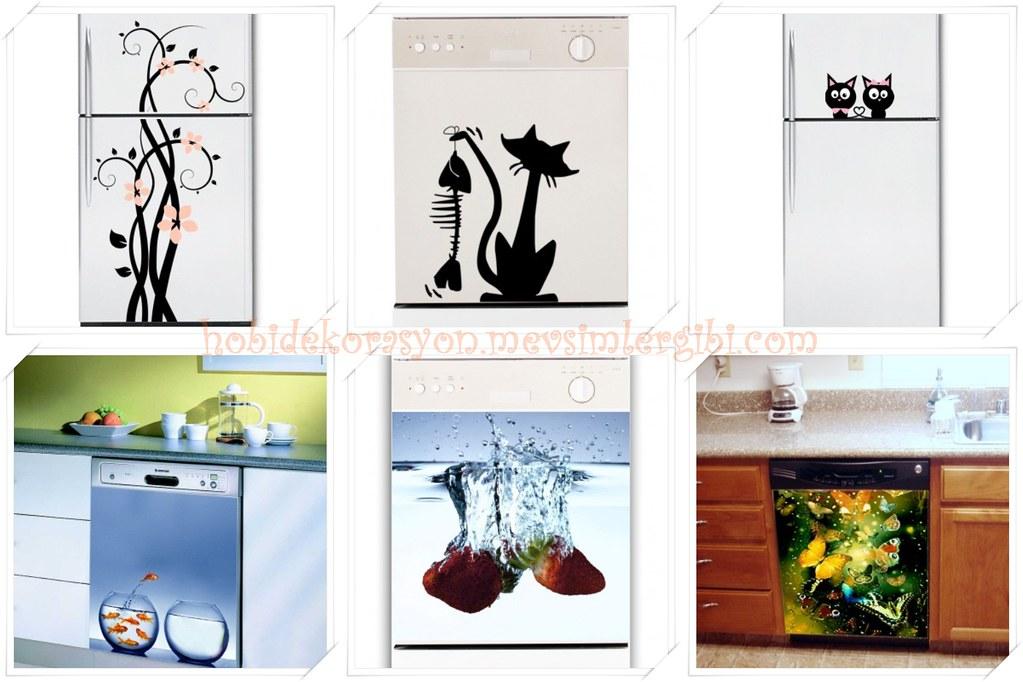 FANCY HOMEART STiCKER Dekoratif Duvar Sticker (Mutfak Duvarları Mutfak Dolapları ve Buzdolabı Bulaşık Makinesi Gibi Beyaz Eşyalar İçin)