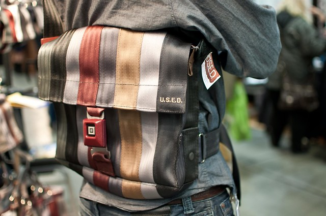 U.S.E.D. recycled seat bags