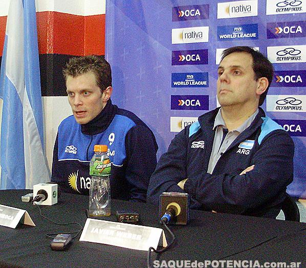 Quiroga y Weber en Conferencia de Prensa