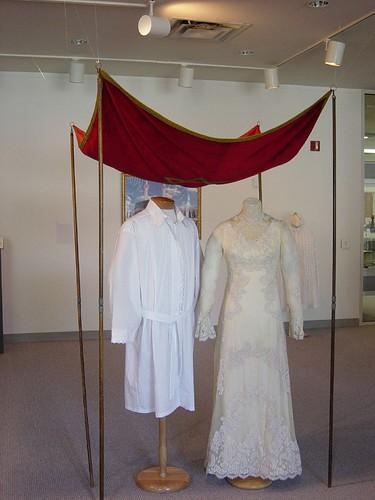 Chuppah/Wedding Canopy, Kittel and Wedding Dress