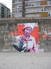mate (arndt242) Tags: beach strand uruguay agua image playa graffity montevideo mate bild plage imagen wandbild stroh caliente kanne pocitos wandmalerei strohhalm
