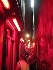 Traffic Jam in alleyway, Amsterdam by Night (OisinLunny) Tags: amsterdambynight