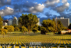 fallen heroes (Kris Kros) Tags: california ca blue sky usa cloud building halloween cemetery graveyard cali stone architecture soldier photography la us losangeles los high scary bravo dynamic angeles spirit ghost tombstone great creepy spooky 405 business socal national commercial fallen freeway hero kris brave range soe hdr wilshire fright kkg 2007 dimensions courageous blueribbonwinner littlestories kros kriskros 1xp kk2k abigfave shieldofexcellence superbmasterpiece onlythebestare lanationalcemetery joe9978 picswithsoul kkgallery