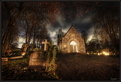 Enter (Kaj Bjurman) Tags: autumn church night eos sweden stockholm cemetary chapel graves hdr kaj 2007 cs3 photomatix 40d abigfave superbmasterpiece bjurman