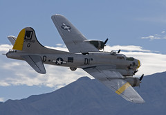 B-17 Topside Pass (Jason Pineau) Tags: airplane lasvegas aviationnation