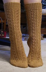 Cable and Lace Socks