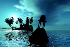 Tequila (Felony Fabre) Tags: ocean life blue sky lighthouse seascape art silhouette wow landscape cool sl secondlife virtual second thisone fabre felony buoy amazingcolors windlight lindenlab metaverse nodrama buoyant slart felonyfabre creativephotographers emeraldcove proudshopper felonyrecord