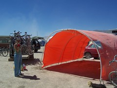 Home sweet monkeyhut (fleepy_99) Tags: burningman 2007 monkeyhut orangeisthenewblack