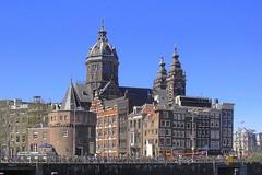 Schreierstoren w/ Church of St. Nicholas (Amsterdam) (Jill .... back in the Philippines) Tags: netherlands amsterdam canal queensday amsterdamcanal isawyoufirst wonderfulworldmix