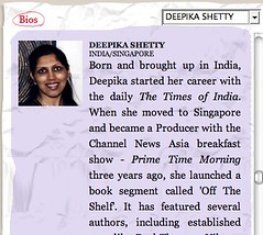 Singapore Writers Festival - Deepika Shetty