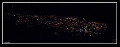 Livorno seen from northeast - Nightshot (Torre, Tuscany, Italy) Photo