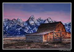 In Predawn Light (James Neeley) Tags: snow mountains landscape bravo grandtetons tetons hdr grandtetonnationalpark mormonrow 5xp moultonbarn mywinners superaplus aplusphoto jamesneeley