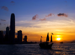 Hong Kong (fai_) Tags: sunset hong kong victoriahabour colourartaward