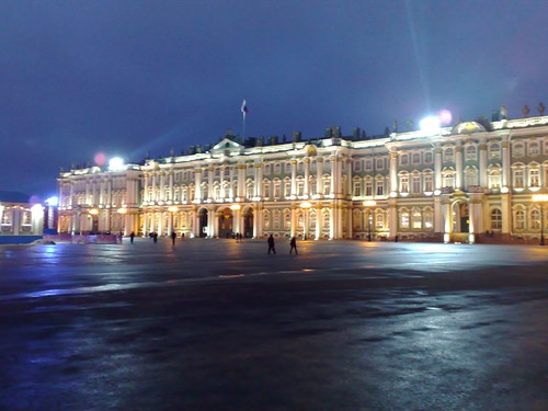 Winter palace at twilight