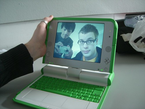matd students checking out my olpc xo