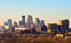 Minneapolis Skyline from Tower Hill Park (Tony Webster) Tags: winter favorite minnesota skyline buildings university downtown skyscrapers prospectpark minneapolis cbd 365 umn metrodome universityofminnesota witcheshat diversey witchshat moostower 366 project365 deletethistag towerhillpark importtwjanm cgg1508 crv1523