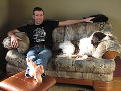 Mikey and his dog Phantom