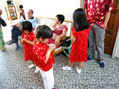 matching cny kids