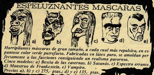 espeluznantes máscaras