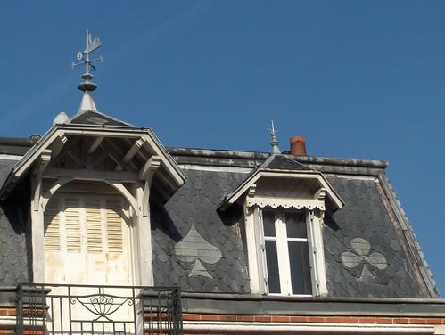"""""""Maison du zingueur"""", 50, rue du Pas Notre-Dame (détail de la toiture)"""