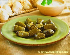 Dolma - Stuffed Grape Leaves (AZ Cookbook) Tags: food baku azerbaijan meat grapeleaves ethnic farida dolma stuffedgrapeleaves stuffedvineleaves azerbaycan