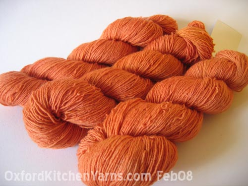 Oxford Kitchen Yarns Sock Yarn: Marmalade