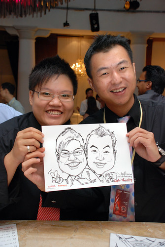 caricature live sketching Singtel Radiance Communications Avaya 5