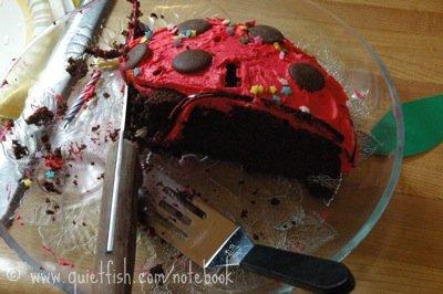 I forgot to take a photo of the cake!
