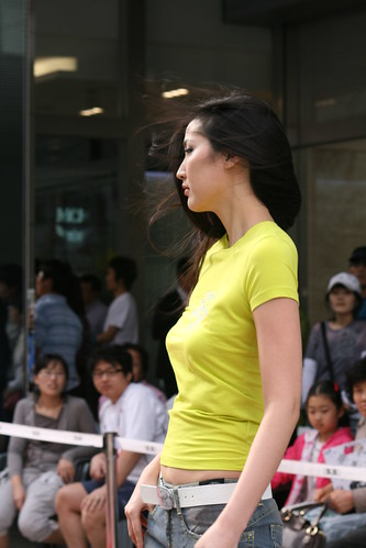 Sexy Asian Girl in Young Plaza Fashion Show