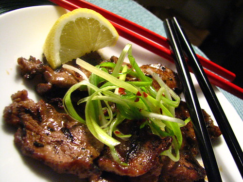 Grilled Veal Tongue with Miso Dipping Sauce