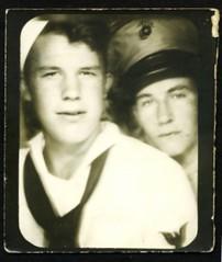 00071 varones (VARONES!) Tags: friends portrait male men vintage marine couple uniform friendship affection antique pals sailor affectionate varones