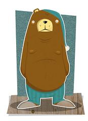 hemergilio no se puede dormir (medialunadegrasa) Tags: bear illustration oso se juan no carlos dormir viva vector peron puede hemergilio