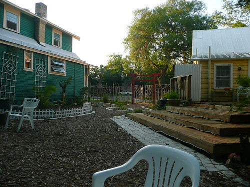 zen hostel backyard