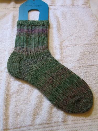 Slippin Stripin Socks WIP