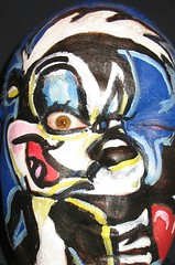 #38. 365. Pepe le Pew. (hawhawjames) Tags: portrait selfportrait cute love me strange face self painting french facepainting tv funny paint body cd character painted cartoon makeup bodypaint wierd gras bodypainting 365 lover facepaint mardigras skunk mardi amore dq pepelepew stinker 365days
